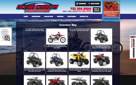Screenshot of Site Map Page oceancountypowersports.com - Inventorymap | Ocean County Powersports | Toms River New Jersey - captured Oct. 6, 2014