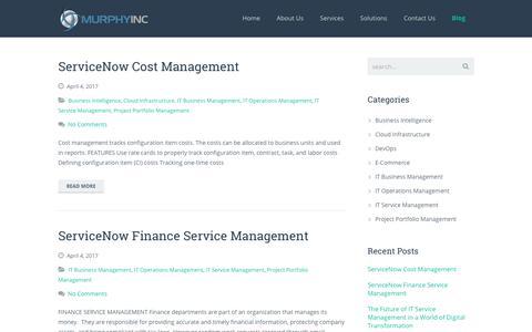 Screenshot of Blog murphyinc.com - Information Technology Blog   Murphy Management Consulting Milwaukee WI - captured Oct. 22, 2017