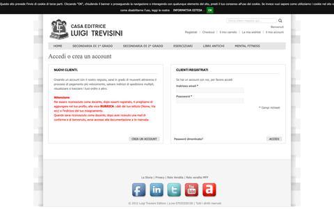 Screenshot of Login Page trevisini.it - Accesso Cliente - captured Oct. 20, 2018