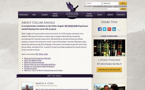 Screenshot of About Page cellarangels.com - About Cellar Angels | Cellar Angels - captured Oct. 28, 2014