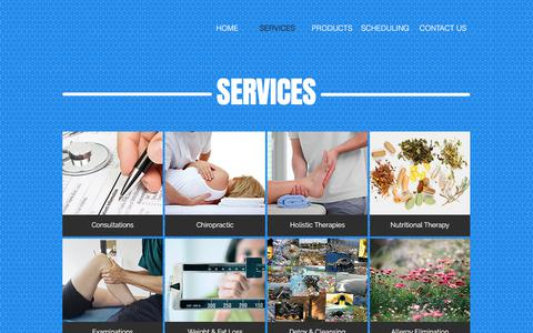 Screenshot of Services Page healthrevolutions.net - health-revolutions | SERVICES - captured July 17, 2018
