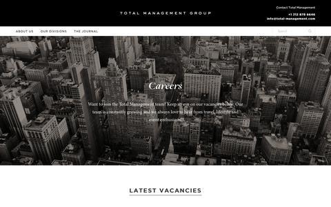 Screenshot of Jobs Page total-management.com - Careers - Total Management - captured Nov. 18, 2018