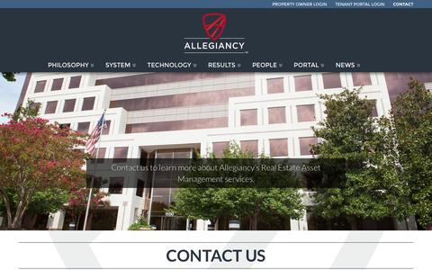 Screenshot of Contact Page allegiancy.us - Contact Us | AllegiancyAllegiancy - captured Dec. 4, 2015