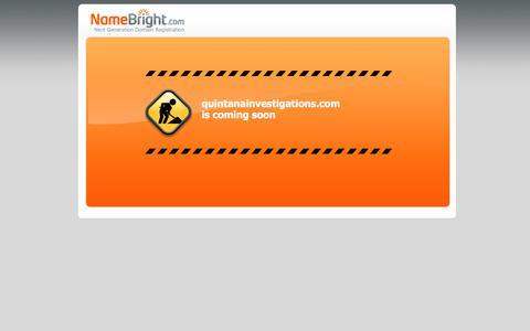 Screenshot of Home Page quintanainvestigations.com captured July 13, 2018