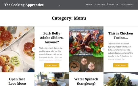 Screenshot of Menu Page thecookingapprentice.com - Menu – The Cooking Apprentice - captured Dec. 16, 2016
