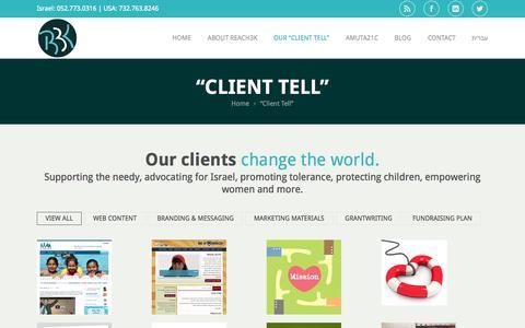 "Screenshot of Testimonials Page reach3k.com - ""Client Tell"" | Reach3K | Reach Your AudienceReach3K | Reach Your Audience - captured Sept. 30, 2014"