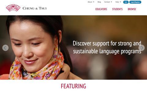 Screenshot of Home Page cheng-tsui.com - Cheng & Tsui - captured Jan. 23, 2015