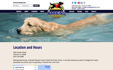 Screenshot of Maps & Directions Page Hours Page barkingdogfitness.com - » Hours and Location ! Barking Dog Fitness - captured Oct. 23, 2014