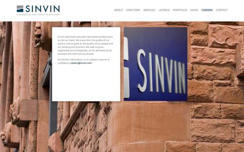 Screenshot of Jobs Page sinvin.com - Careers |  Sinvin - captured Feb. 17, 2016