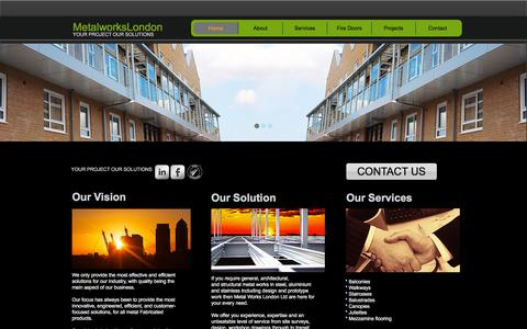Screenshot of Home Page metalworkslondon.co - Metal Works London - captured July 26, 2018