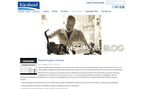 Screenshot of Blog kiesland.com - Blog Archives - Smarter Thinking | Smarter Building - captured Oct. 15, 2018