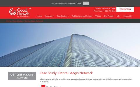 Screenshot of Case Studies Page goodgrowth.co.uk - Dentsu Aegis Network - Good Growth - captured Sept. 25, 2017