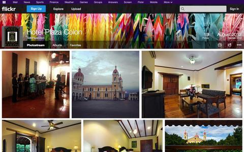 Screenshot of Flickr Page flickr.com - Flickr: HotelPlazaColon's Photostream - captured Oct. 22, 2014