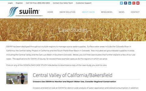 Screenshot of Case Studies Page swiimsystem.com - Case Studies | SWIIM® System - captured Nov. 12, 2018