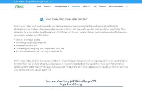 Screenshot of Testimonials Page smartenergytoday.net - Testimonials | Case Studies | Smart Energy Today - captured June 20, 2019
