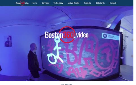 Screenshot of Home Page Landing Page boston360.video - Boston360.video - captured Aug. 23, 2016