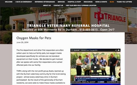 Screenshot of Blog trianglevrh.com - Blog — Triangle Veterinary Referral Hospital - captured Nov. 5, 2014