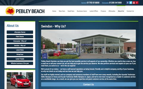 Screenshot of Testimonials Page pebley.co.uk - Swindon Why Us - Pebley Beach, Swindon, Wiltshire - captured Oct. 2, 2014