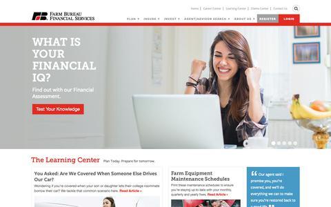 Screenshot of Home Page fbfs.com - Home   Farm Bureau Financial Services - captured Feb. 6, 2019