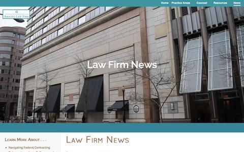 Screenshot of Press Page amadeolaw.com - Law Firm News - captured Feb. 6, 2016