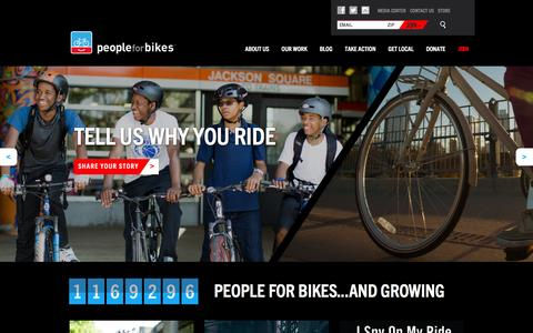 Screenshot of Home Page peopleforbikes.org - PeopleForBikes - captured Dec. 2, 2015