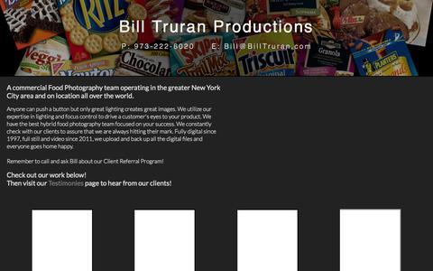 Screenshot of Home Page billtruran.com - Bill Truran Productions - captured Oct. 5, 2014