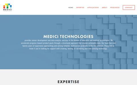 Screenshot of Home Page medicitechnologies.com - Medici Technologies - captured Sept. 20, 2018