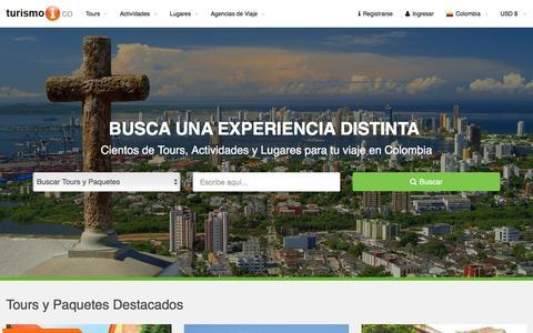 Screenshot of Home Page turismoi.co - TURISMO EN COLOMBIA Turismoi.co - Buscador de Turismo de Colombia - captured March 8, 2016
