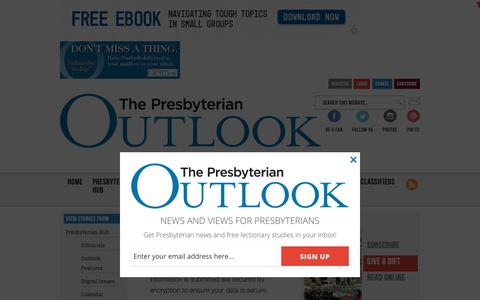 Screenshot of Privacy Page pres-outlook.org - Privacy - The Presbyterian Outlook - captured Sept. 29, 2018