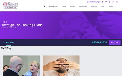 Screenshot of Blog empiremedicaltraining.com - Empire Medical Training Blog - captured Dec. 6, 2019