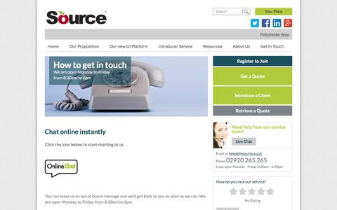The Source |   How to get in touch