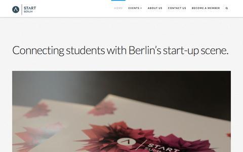Screenshot of Home Page start-berlin.com - Home | START Berlin - captured Sept. 22, 2017