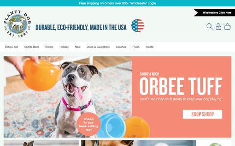 Screenshot of Home Page planetdog.com - Planet Dog Pet Toys - captured Nov. 10, 2018