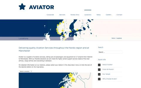 Screenshot of Locations Page aviator.eu - Aviator Locations - Aviator - captured Nov. 30, 2018