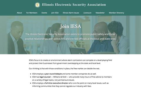 Screenshot of Signup Page iesa.net - Join IESA - Member Benefits - captured Oct. 14, 2017