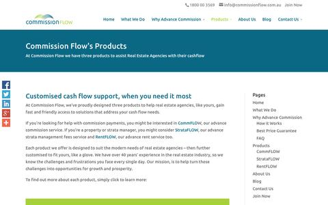 Screenshot of Products Page commissionflow.com.au - Commission Flow's Products | Commission Flow - captured Oct. 27, 2014