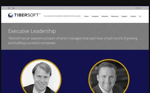 Screenshot of Team Page tibersoft.com - Tibersoft CorporationExecutive Leadership | Tibersoft Corporation - captured Sept. 17, 2014