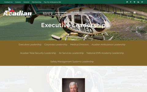 Screenshot of Team Page acadian.com - Leadership - Acadian Companies - captured Oct. 2, 2018