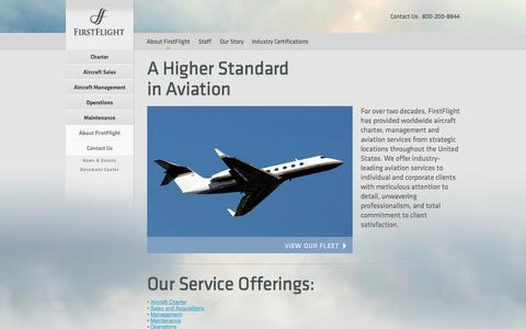 Screenshot of About Page fflt.com - FirstFlight - About FirstFlight - captured Oct. 6, 2014