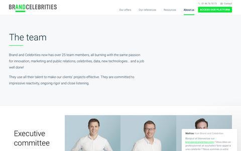 Screenshot of Team Page brandandcelebrities.com - Mathias says… - captured Oct. 7, 2017