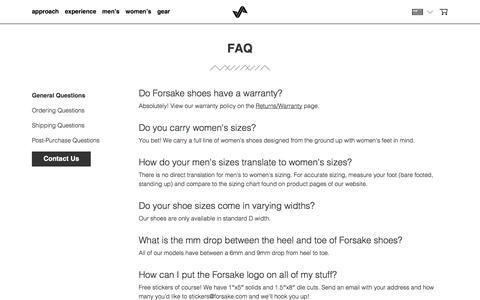 FAQ – Forsake
