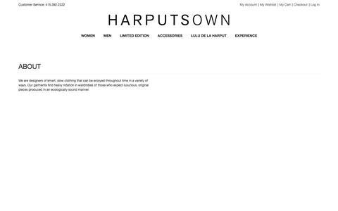 Screenshot of About Page harputs.com - About   Harputs - captured Oct. 2, 2014