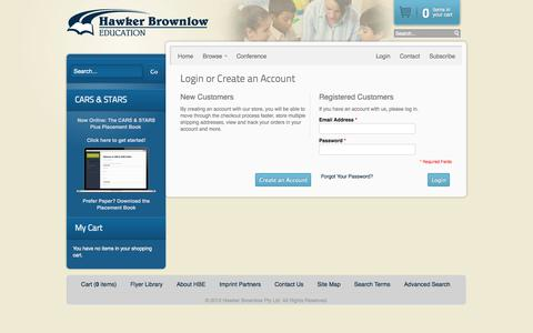 Screenshot of Login Page hbe.com.au - Hawker Brownlow Education - captured Oct. 2, 2014
