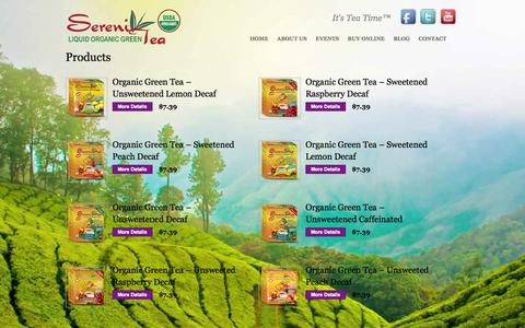 Screenshot of Products Page liquidsereniteas.com - Liquid SereniTeas - Brewless Tea Packets - captured Oct. 26, 2014
