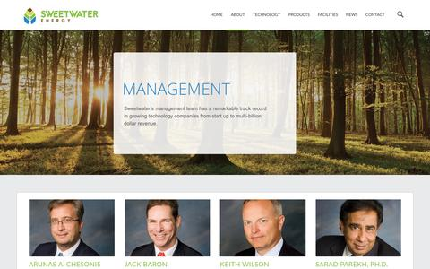 Screenshot of Team Page sweetwater.us - Management | Sweetwater Energy - captured Dec. 3, 2016