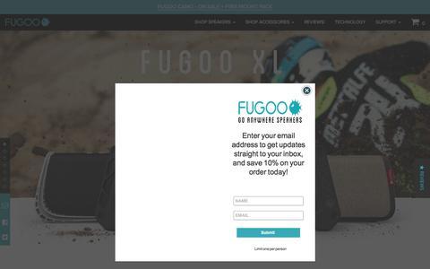 Screenshot of Home Page fugoo.com - The Best Waterproof Bluetooth Speakers for Outdoors - FUGOO - captured July 13, 2018