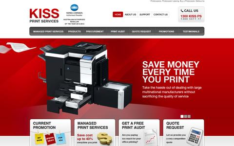 Screenshot of Home Page photocopiersolutions.com.au - Photocopiers, Photocopier Leasing, Buy a Photocopier, Melbourne - captured Oct. 6, 2014