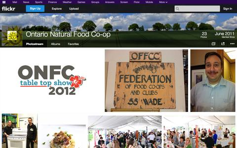 Screenshot of Flickr Page flickr.com - Flickr: Ontario Natural Food Co-op's Photostream - captured Oct. 26, 2014