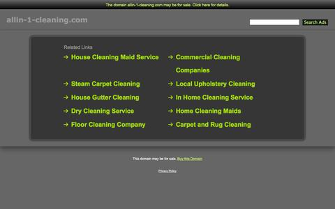 Screenshot of Home Page allin-1-cleaning.com - Allin-1-Cleaning.com - captured Oct. 4, 2014