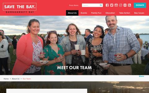 Screenshot of Team Page savebay.org - Our Team | Save The Bay - captured Nov. 12, 2018